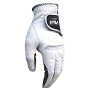 PGM Men's Right Hand Cabretta Leather White Breathable Full Finger Golf Gloves-1 Piece