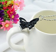 Fashion Couple's Tianium Steel Butterfly Pendant Necklace