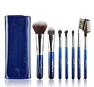 msq®7pcs черники множество ночь макияж кисти + синий мешок