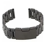 Unisex Fashion Steel Watch Band Strap 20MM (Black)
