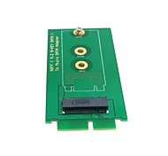 "Mini PCI-E 2 Lane M.2 NGFF SSD to 1.8"" Micro SATA 7+9 16pin Adapter Add on Cards PCBA for for E431 E531 X240S"
