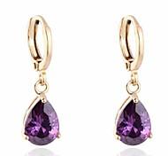 Women New Fashion Multicolor 18K Gold Plating Zircon Earrings
