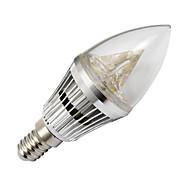 Bombillas Vela LOHAS E14 4.0 W 3 LED de Alta Potencia 210-240 LM Blanco Cálido AC 100-240 V