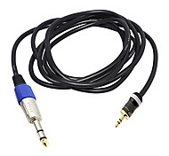 1M 3.28FT TRS 6.35mm Audio Male to 3.5mm Audio Male Black Cable for Voice Tube,Sound Console,Home Theater Free Shipping