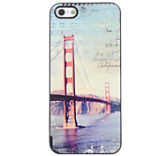 Retro London Design Hard Case Design Ponte de alumínio para o iPhone 5/5S
