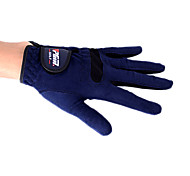 PGM Men's Left Hand Microfiber Cloth Dark Blue Breathable Full Finger Golf Gloves-1 Piece
