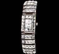 Women's Luxury Diamond Decor Square Dial Steel Band Quartz Wrist Watch Cool Watches Unique Watches
