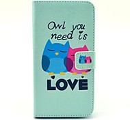 Owl Need Love PU Leather Cover Case With Card Holder for Samsung Galaxy Grand 2 G7106