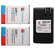 Link Dream  2 x Cell Phone Battery+Charger  for Samsung GalaxyNote3 N9000 N9005  N9002 N900 N900A (4500 mAh)