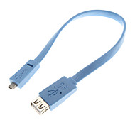 0.25M 0.82FT USB2.0 Female to micro USB2.0 Male OTG Cable
