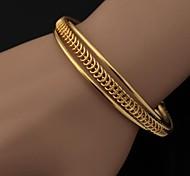 plaqué simples brassard bracelet or 18k platine des femmes u7® bracelet manchette de haute qualité des bijoux de mode bijoux