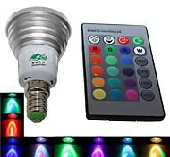 bombilla del RGB LED de la lámpara con el mando a distancia / función de memoria - (ac85 ~ 265v) 240lm 3w e14