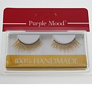 1 Pair High Quality Hand Made Synthetic Fiber Hair Thick Long Shimmer Cannetille Style False Eyelashes CFE461#