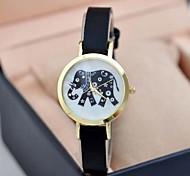 Women's Fashion Slim Retro Quartz Elephant Pattern Watches Cool Watches Unique Watches