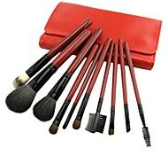 10Pcs Beautiful Red Makeup Tools /Professional Makeup Brush /Essential Brush