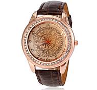 relógio padrão totem pu banda de pulso de quartzo das mulheres (cores sortidas)
