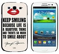 milocos ™ lèvre rouge et le cas de quotehard de Marilyn Monroe pour les i9300 Samsung Galaxy S