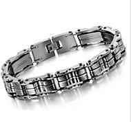 z&X® personalidade da moda pulseira de titânio de aço corrente de bicicleta masculina