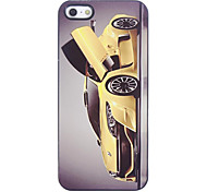 Yellow Racing Car Pattern Aluminium Hard Case for iPhone 5/5S