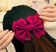 Fashion Double Bowknots Fan-Shaped Barrettes Random Color