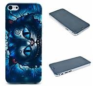 Retro Blue Cat Cartoon Pattern Hard Case for iPhone 6 Plus