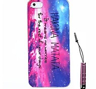 Sample Letter Hakuna Matata Pattern Hard Case & Touch Pen for iPhone 4/4S