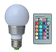 JIAWEN® E27 3W RGB  Led Bulb Light  with Remote Controller (AC 100-220V)