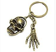 Europäische Schädel und Hand-Bronze-Legierung Schlüsselbund (1 PC)