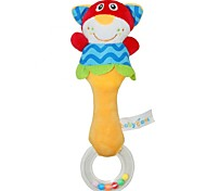 Babyfans ™ Baby Cute Cat Cartoon Shaped Plush Educational Rattle Toys