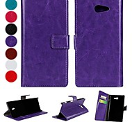 Solid Color PU Leather Full Body Case with Card for Sony Xperia M2 S50h (Assorted Colors)