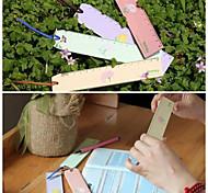 Flower Language Wooden Ruler(Random Color)
