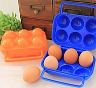 Plastic Outdoor Picnic Portable 12 Holes Egg Box,20x19.5x7cm