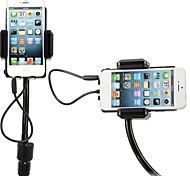 Rotary Hi-Fi Stereo FM Transmitter Universal Car Charger Car Holder for iPhone Samsung HTC and Other