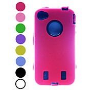 Kinston Triple Robot Style Silicone Full Body Case for iPhone 4/4S(Assorted Colors)