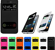 VORMOR® Double View Screen PU Leather Case for iPhone 5/5S (Assorted Colors)