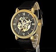 SEWOR Men's New Fashion Skeleton Round Hand Wind Watch Assorted Colors