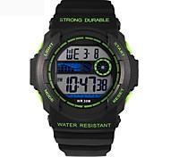 Men's Fashion Digital Waterproof Sport Wristwatch with Alarm Clock Stopwatch LED