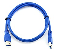 USB 3.0 Male to Male High Speed Extension Cable Blue 0.5M 1.64FT