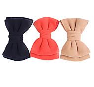 Fashion Big Bowknot Woolen Barrettes Random Color