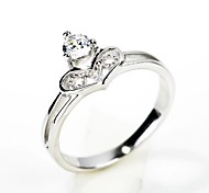 I FREE®Kid's Fashion Heart Shape S925 Silver Zircon Ring 1 pc (For Little Lady)