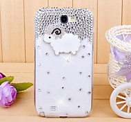 diamant schaapje Cover Case voor Samsung Galaxy Note 2 n7100