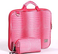 "VFENG VFENG 11.6"",13.3"",15"" Fashion Rose Crocodile Pattern Leather Bag for Laptop Computer Handbag"