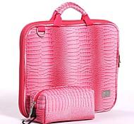 """VFENG VFENG 11.6"""",13.3"""",15"""" Fashion Rose Crocodile Pattern Leather Bag for Laptop Computer Handbag"""