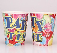 Coway 50PCS Joy Party Birthday Party Disposable Paper Cup Cartoon Environmental Protection