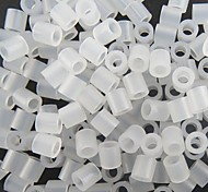 Approx 500PCS/Bag 5MM Clear Transparent Fuse Beads Hama Beads DIY Jigsaw EVA Material Safty for Kids Craft