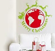 zooyoo® bonito colorido pvc removível logotipo inovação natal de adesivos de parede adesivos de parede de venda quente para a decoração da