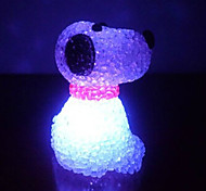 Dog EVA Crystal Color-changing Night Light