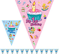 Multicolor 1st Birthday Happy Birthday Flag Banner Party Accessory