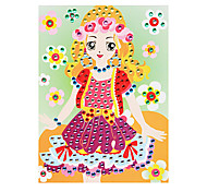 EVA Mosaic Crystal 3D Stickers Children Hand DIY Puzzle Wreath Beauty Toy