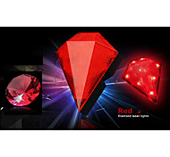 FJQXZ 8 LED 2 Laser Red Diamond Shape Laser Taillight with Battery(2*AA)